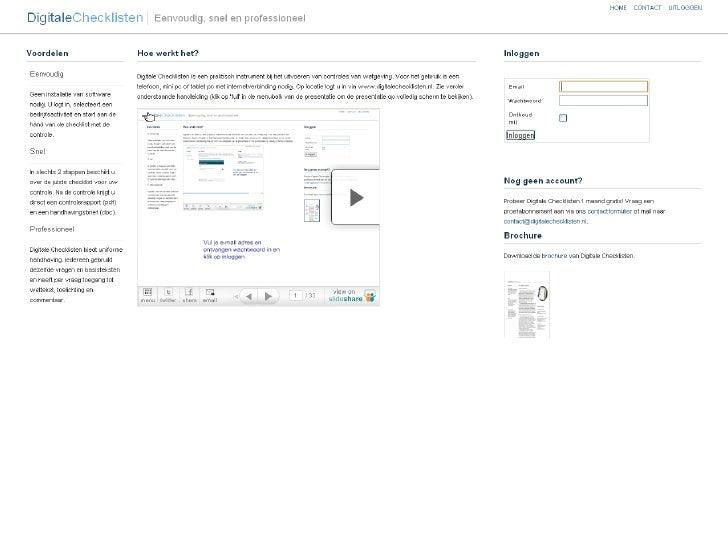 Vul je e-mail adres en ontvangen wachtwoord in en klik op inloggen
