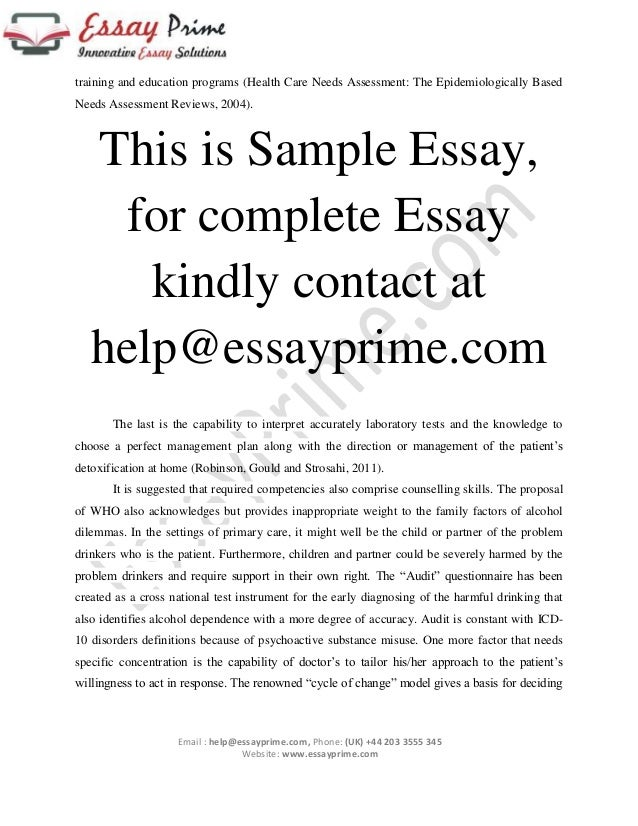 handling alcoholic patients essay sample  7 training and education