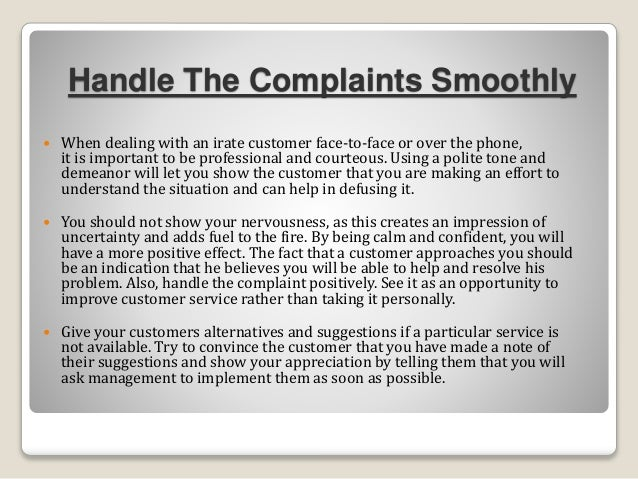 How to handle guest with complaints in hotel 6 handle the complaints altavistaventures Gallery