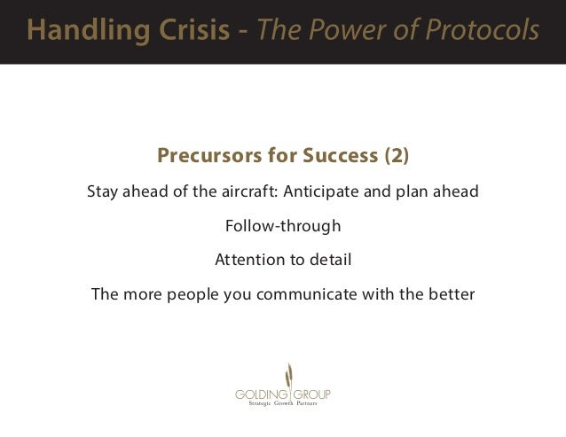 Precursors for Success (2) Stay ahead of the aircraft: Anticipate and plan ahead Follow-through Attention to detail The mo...