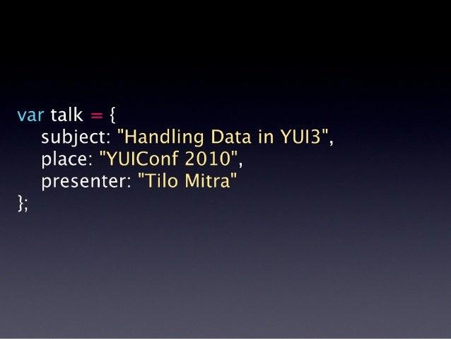 Handling Data in YUI3