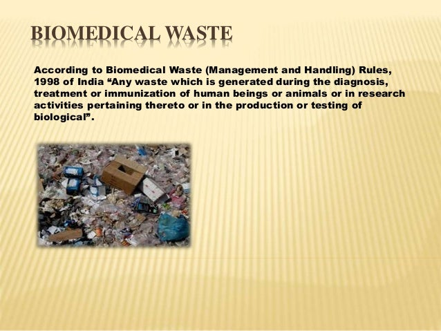 Handling & management of hazardous and biomedical waste