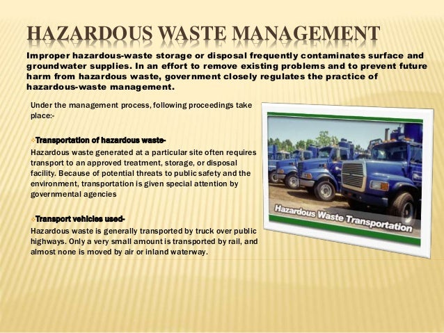 list of hazardous waste