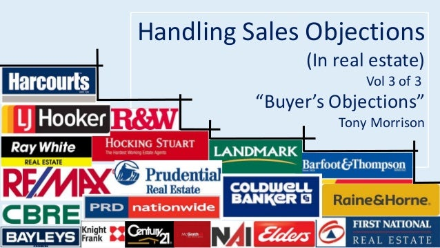 """Handling Sales Objections  (In real estate)  Vol 3 of 3  """"Buyer's Objections""""  Tony Morrison"""