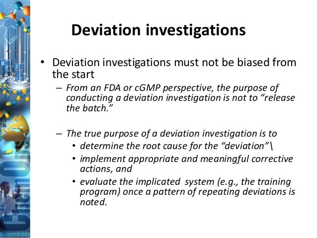Gmp Training Handling Of Deviation