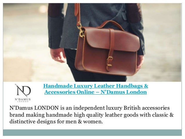 203175ac8 Handmade Luxury Leather Handbags & Accessories Online - N'Damus London