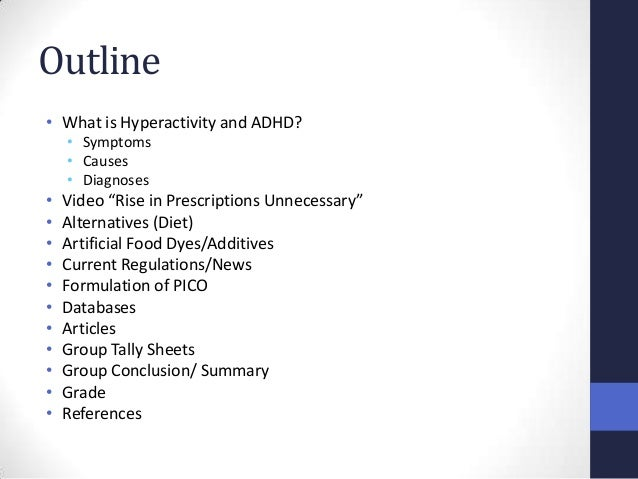Overview of adhd essay