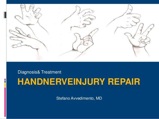 HANDNERVEINJURY REPAIR Diagnosis& Treatment Stefano Avvedimento, MD