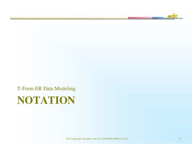 NOTATION T-Form ER Data Modeling 2015 Copyright, All rights reserved. SYSTEMS DESIG Co.,Ltd 2