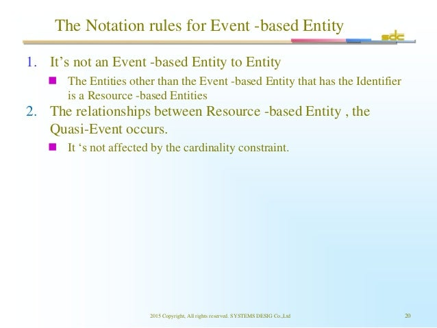 The Notation rules for Event -based Entity 1. It's not an Event -based Entity to Entity  The Entities other than the Even...