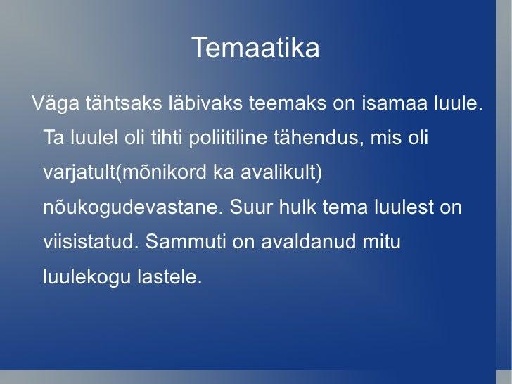 isamaalised luuletused