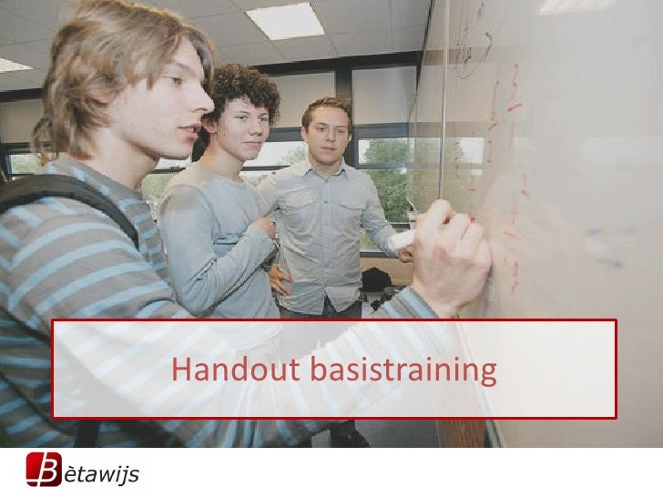 Handout basistraining
