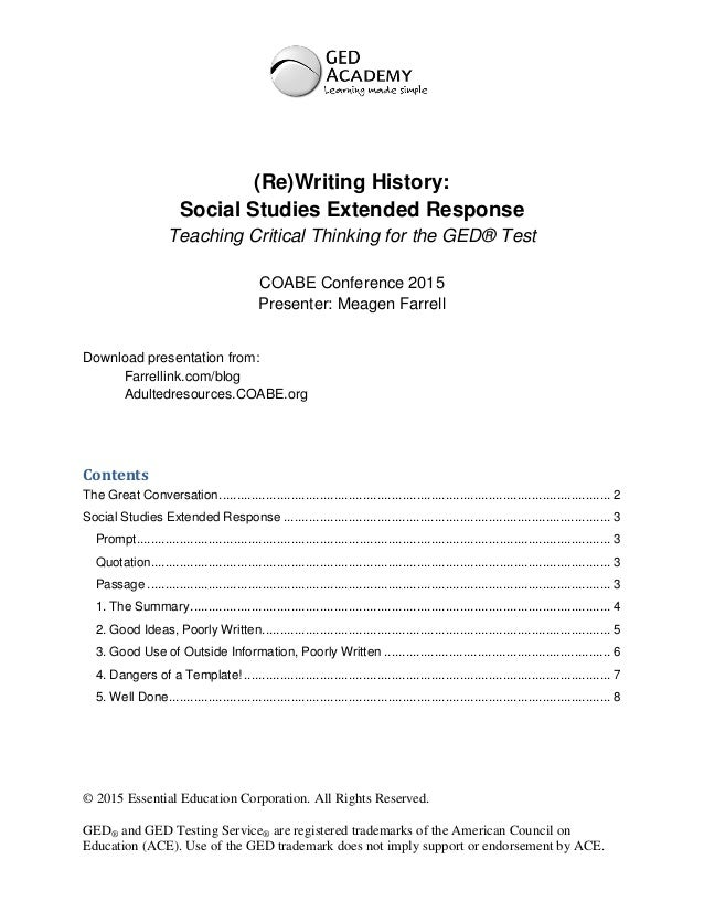 Ged Social Studies Worksheets : Handout for rewriting history teaching ged social studies