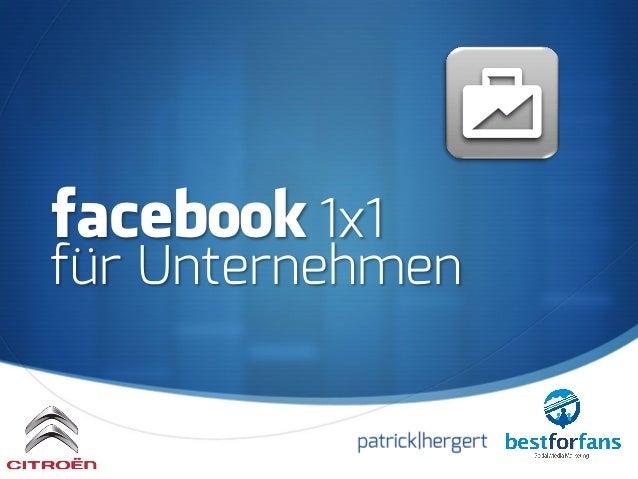 S facebook 1x1 für Unternehmen