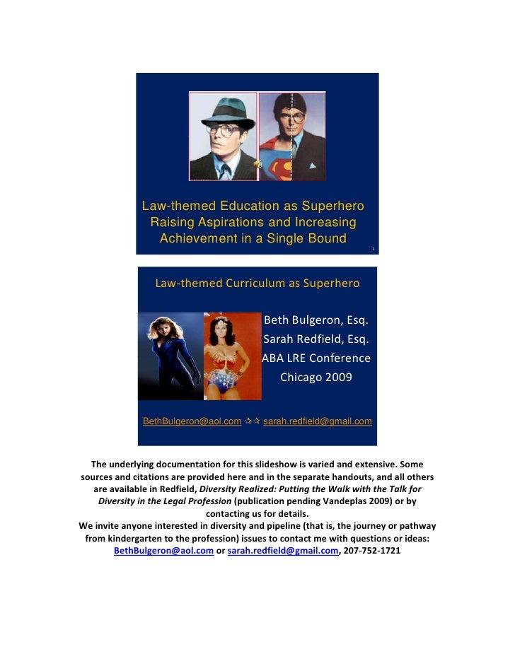 Law-themed Education as Superhero                 Raising Aspirations and Increasing                 ...