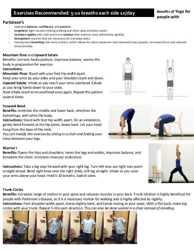 Handout of Parkinson's Exercises