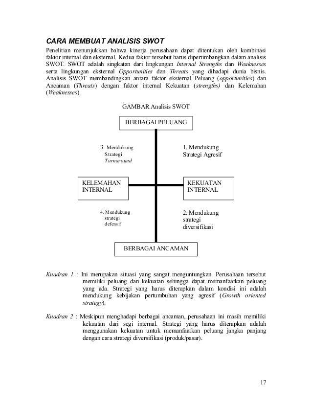Analisis Swot Manajemen Strategi
