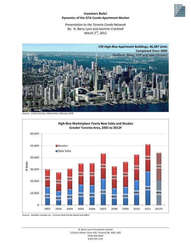 Investors Rule!                                     Dynamics of the GTA Condo Apartment Market                            ...