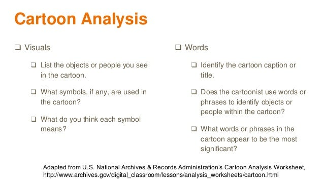 Creating Culturally Relevant Discourse Through Digital Curation – Cartoon Analysis Worksheet