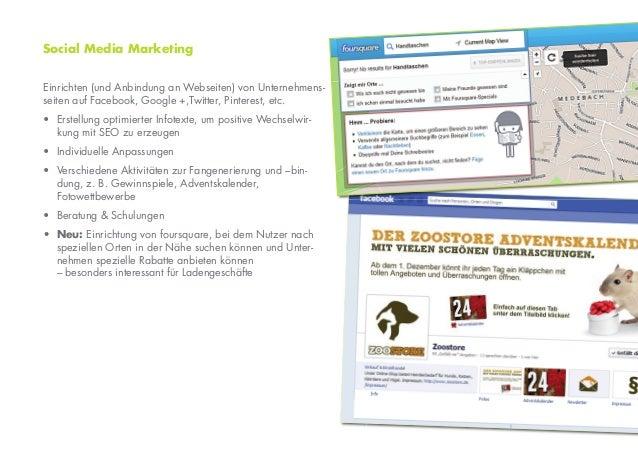 Social Media MarketingEinrichten (und Anbindung an Webseiten) von Unternehmens-seiten auf Facebook, Google +,Twitter, Pint...
