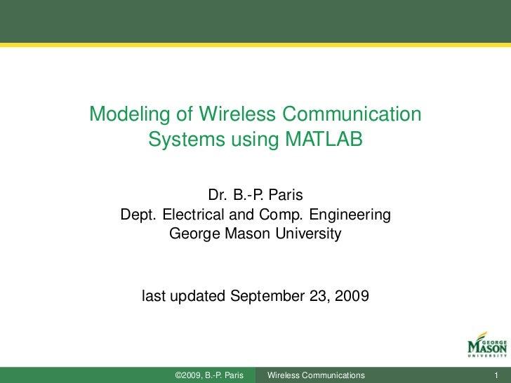 Simulation of Wireless Communication Systems