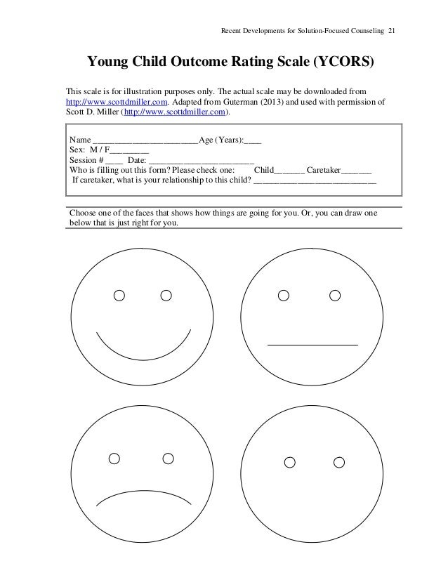 New Developments for SolutionFocused Counseling Handouts – Solution Focused Therapy Worksheets