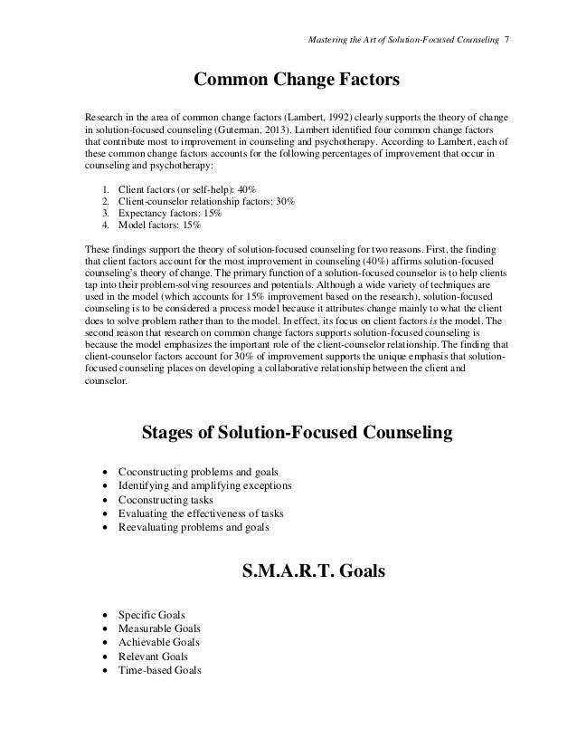 Printables Solution Focused Therapy Worksheets mastering the art of solution focused counseling handouts 7 counseling