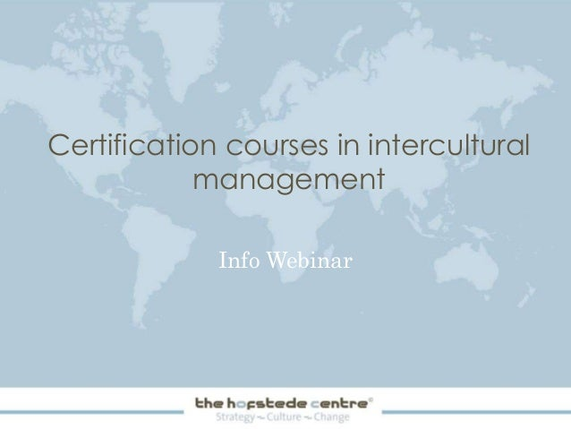 Certification courses in intercultural management Info Webinar