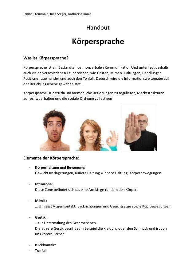 Janine Steinmair , Ines Steger, Katharina Karré                                           Handout                         ...