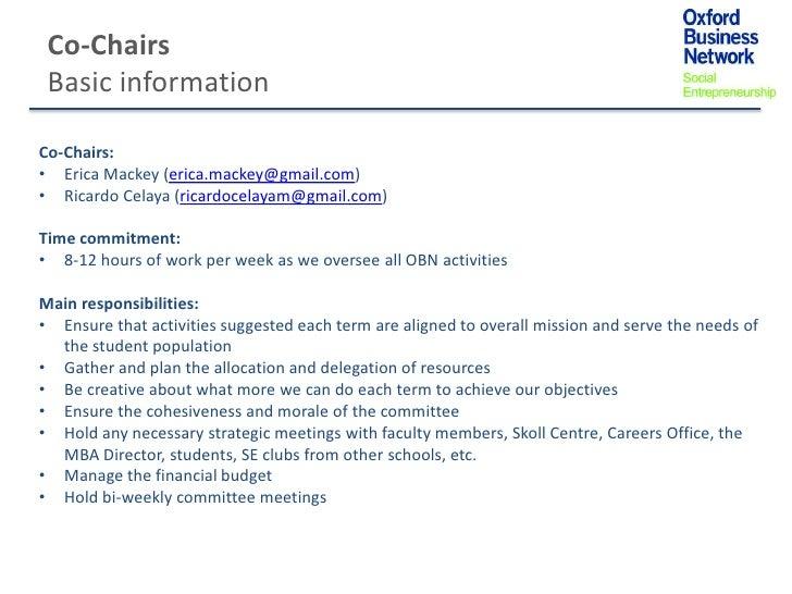 Co-Chairs Basic informationCo-Chairs:• Erica Mackey (erica.mackey@gmail.com)• Ricardo Celaya (ricardocelayam@gmail.com)Tim...