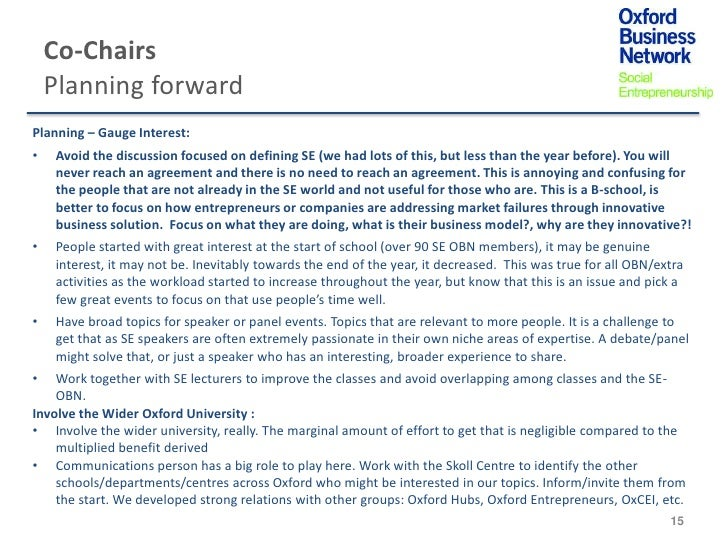 Co-Chairs    Planning forwardPlanning – Gauge Interest:•   Avoid the discussion focused on defining SE (we had lots of thi...