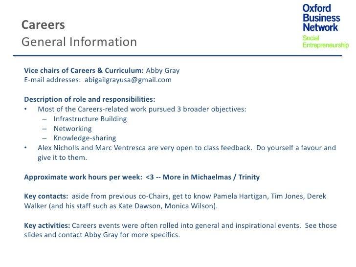 CareersGeneral InformationVice chairs of Careers & Curriculum: Abby GrayE-mail addresses: abigailgrayusa@gmail.comDescript...
