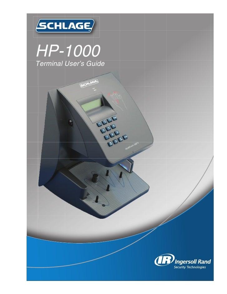 handpunch 1000 manual rh slideshare net Ir Recognition Systems HandKey II schlage handkey ii user manual