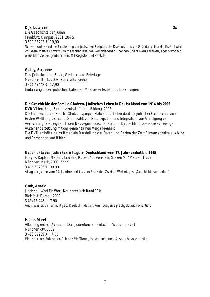 Deutsch-juedische Lebenswelten. Medienliste und Handreichung Slide 2