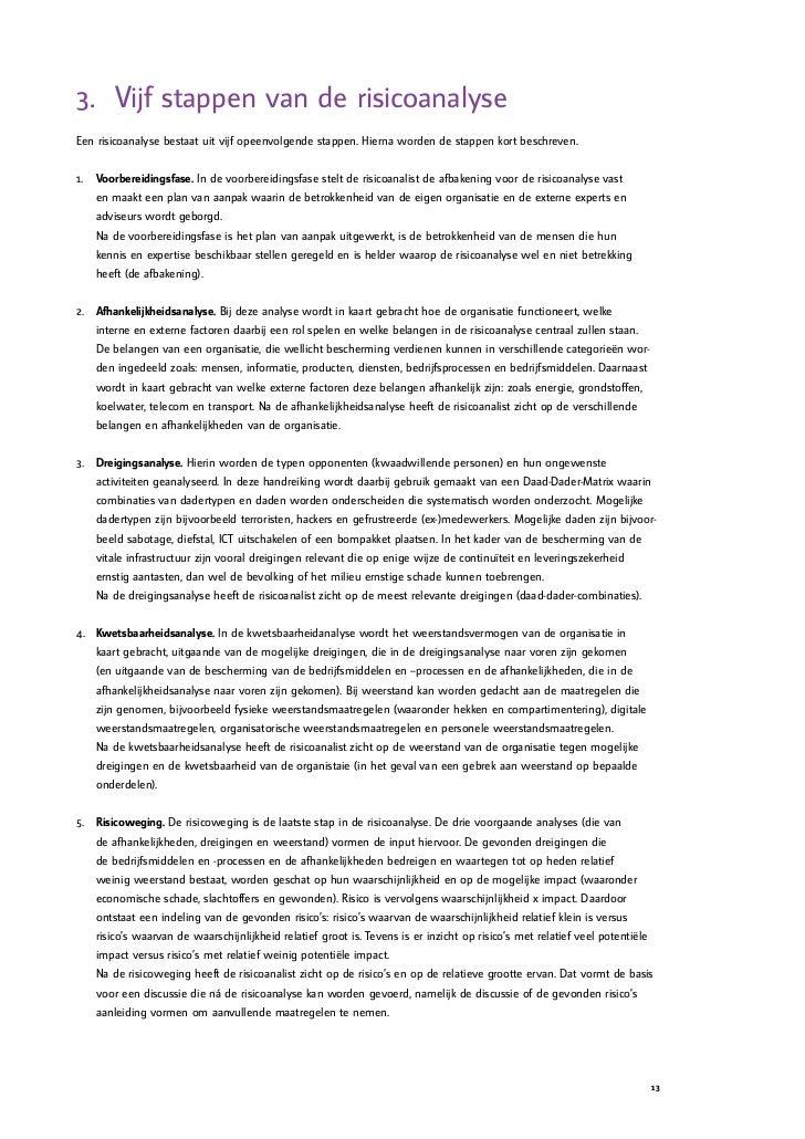 voorbeeld afbakening plan van aanpak Handreiking Risicoanalyse voorbeeld afbakening plan van aanpak