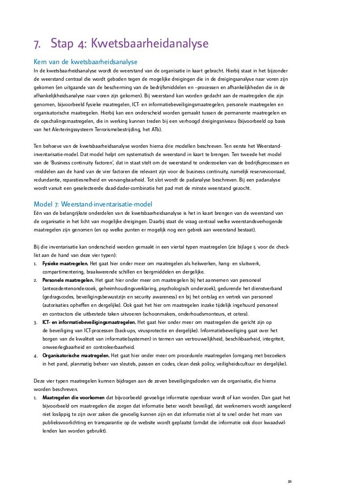 plan van aanpak risicoanalyse voorbeeld Handreiking Risicoanalyse plan van aanpak risicoanalyse voorbeeld