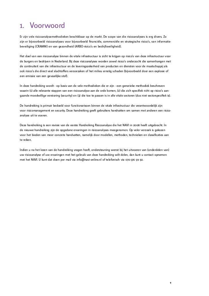 reorganisatie plan van aanpak Handreiking Risicoanalyse reorganisatie plan van aanpak