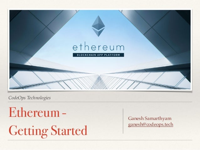 Hands on Ethereum - Getting Started
