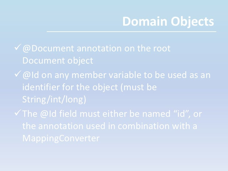 Supports indexing of documents