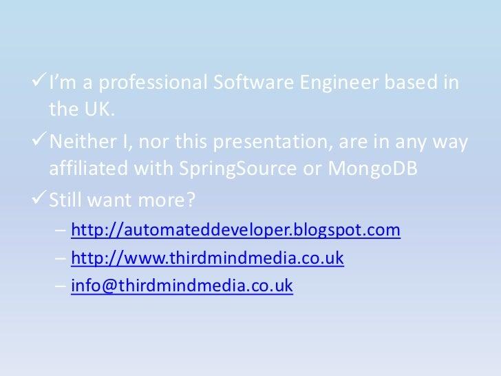 <ul><li>I'm a professional Software Engineer based in the UK.