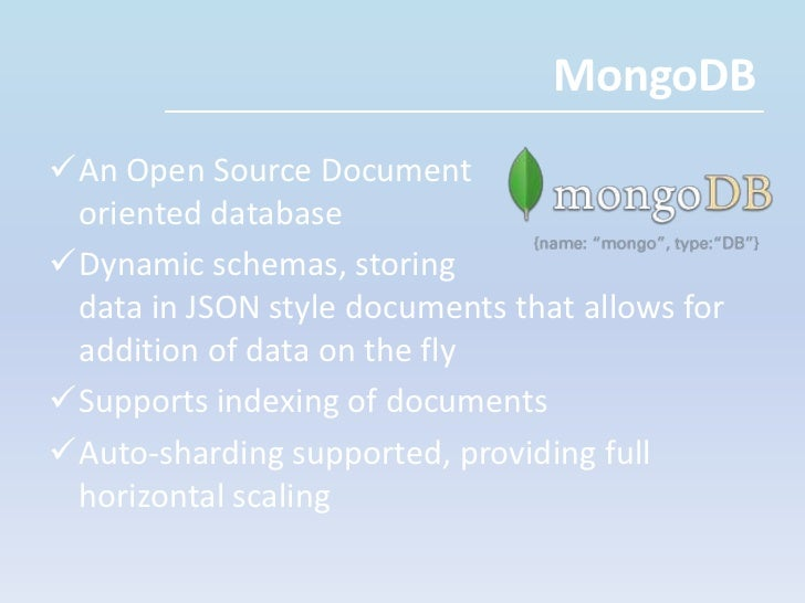 The NoSQL umbrella covers a range of non-relational databases, including key-value, document , wide column store and graph...