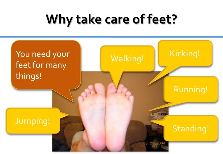 take good care of your feet