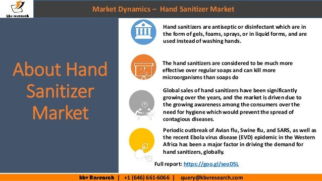 India Hand Sanitizer Market 2020 Drivers Restraints