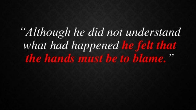 the hands of the blacks short story