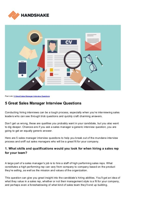 post link 5 great sales manager interview questions 5 great sales manager interview questions conducting - Sales Manager Interview Questions Sales Job Interview