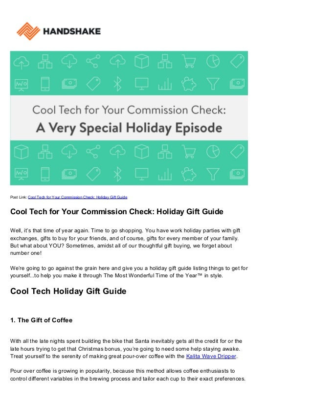 Post Link: Cool Tech for Your Commission Check: Holiday Gift Guide Cool Tech for Your Commission Check: Holiday Gift Guide...