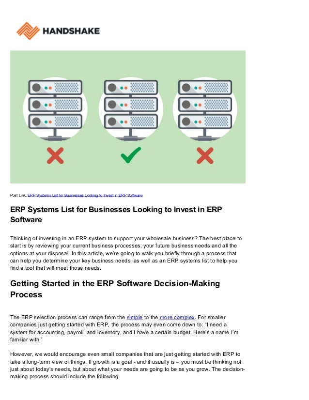 ERP Systems List for Businesses Looking to Invest in ERP
