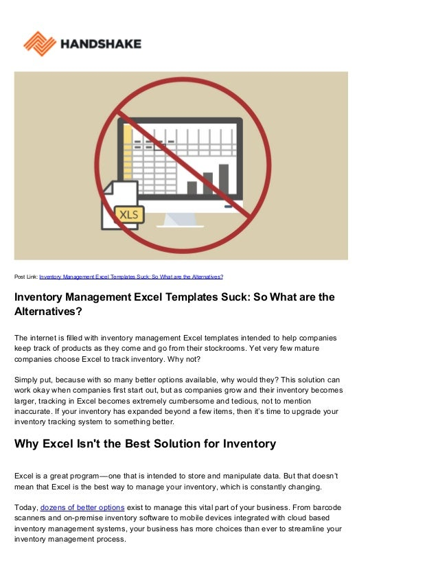 track inventory with excel