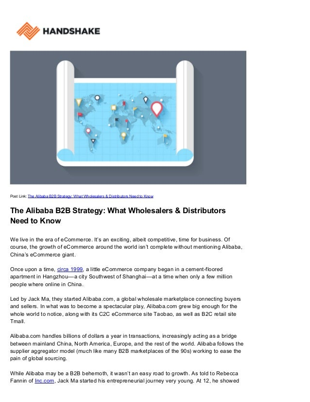 Post Link: The Alibaba B2B Strategy: What Wholesalers & Distributors Need to Know The Alibaba B2B Strategy: What Wholesale...