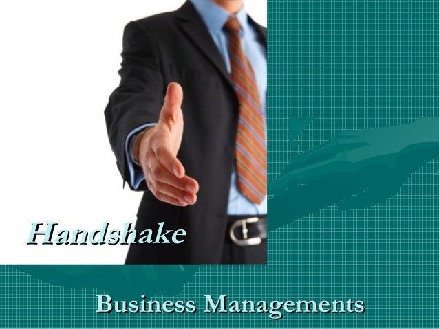 Handshake   Business Managements
